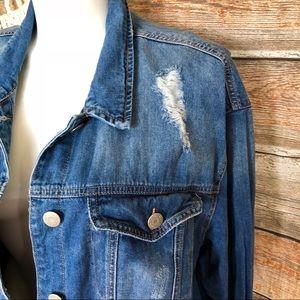 2954054839b1 Wax Jean Jackets & Coats | Distressed Denim Jean Jacket Plus Size 3x ...